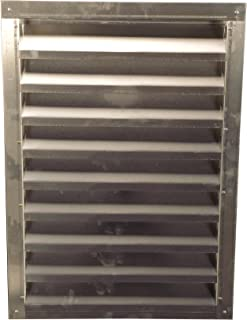 Lomanco 150-12x18 12-Inch X 18-Inch Aluminum Gable Vents Mill Finished