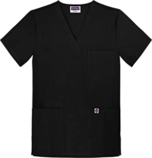 Unisex V-Neck 3 Pocket Scrub Top (Available in 15 Colors)