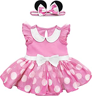 Disney Pink Minnie Mouse Costume Bodysuit for Baby