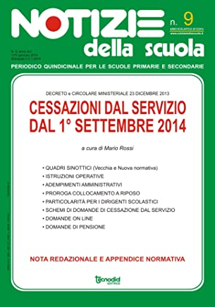 Cessazioni dal servizio dal 1 settembre 2014