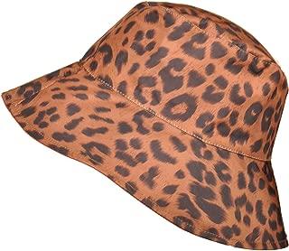 TOUTACOO, Wide-Brimmed Rain Hat Leopard Print, Reversible