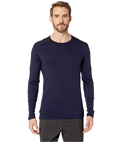 Icebreaker Oasis Mid-Weight Merino Long Sleeve Crewe (Midnight Navy 1) Men