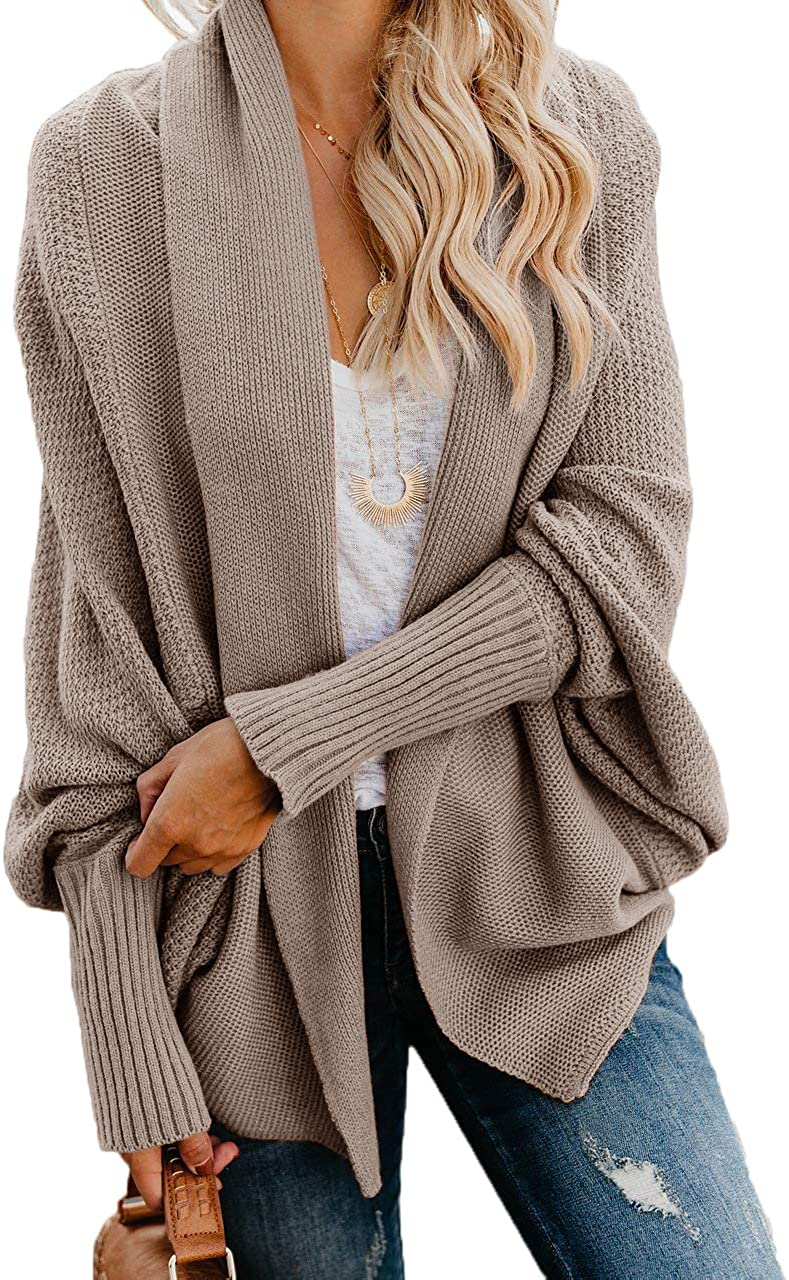 Ybenlow Philadelphia Mall Womens Free shipping anywhere in the nation Kimono Open Front Sweaters Batwing Sleev Cardigan