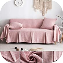 MOMO Sofa Cover Cotton Linen Sofa Towel Slipcover Sofa Covers for Living Room Couch Cover Funda Sofa Protect Furniture 1/2/3 Seater,Color 8,200X150Cm