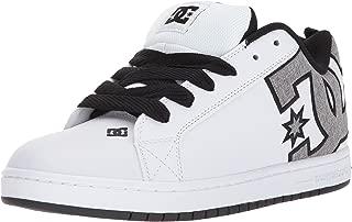 DC Men's Court Graffik SE Skate Shoe, White/Heather Grey,...