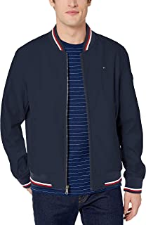 Men's Lightweight Varsity Rib Knit Bomber Jacket