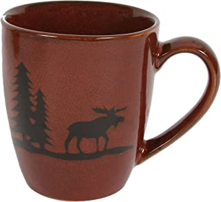 DEI 25656 Woodland Moose Stoneware Mug, 12-Ounce