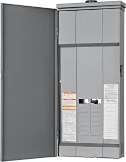 Square D by Schneider Electric HOM1632L225PRB Homeline 225-Amp 16-Space 32-Circuit Outdoor Main Lugs Load Center with Cover, Plug-on Neutral Ready