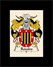 Carpe Diem Designs Rosales Coat of Arms/Rosales Family Crest 8X10 Photo Plaque, Personalized Gift, Wedding Gift