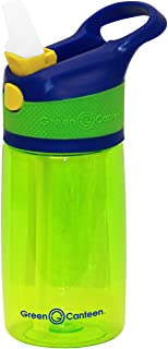 08f401259b Green Canteen PTBK-400-BGG Single Wall Tritan plastic Green Bottle with  Blue/