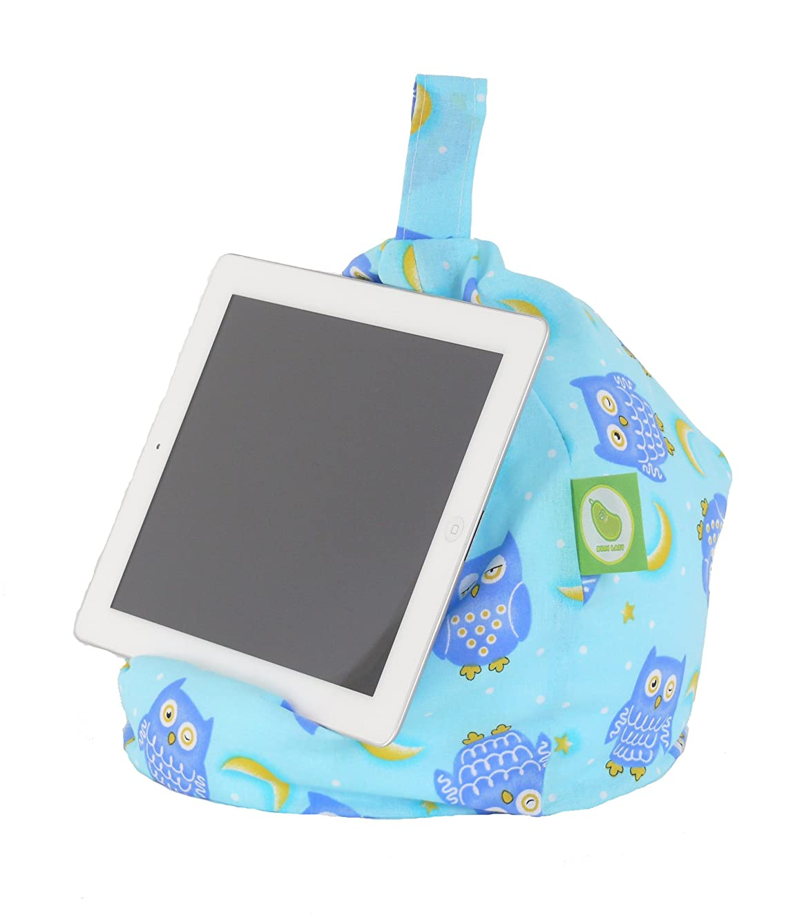 Bean Lazy Ipad, Ereader & Book Mini Bean Bag Fits All Tablets and Ereaders - Blue Owl