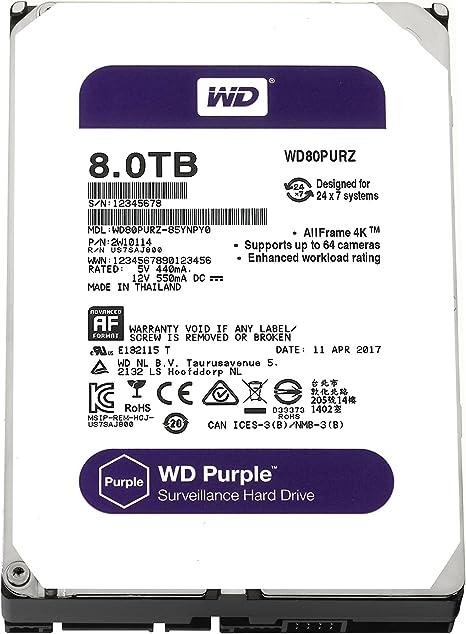 Wd Purple 8 Tb Festplatte Zur Videoüberwachung Computer Zubehör