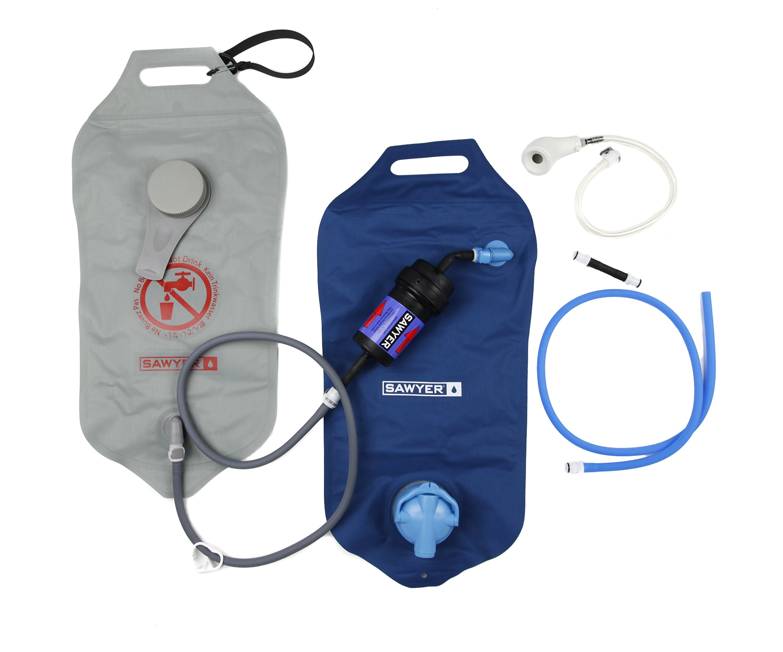 Sawyer Products SP194 Complete Dual Bag 0.02 Micron Water Purifier System, 4 Liters Each: Amazon.es: Deportes y aire libre