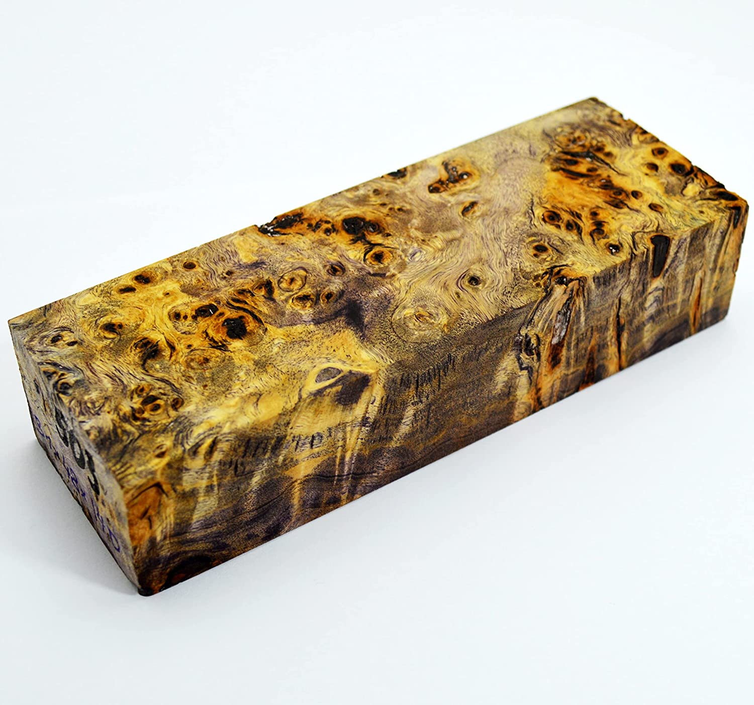 Stabilized BURL Max 46% OFF Wood Wooden Block Turning New sales Blank Handle Blade Kni