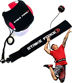 Volleyball Training Aid - Practice Equipment Aids Serving, Spiking, Setting, Arm Strength - Solo Vollyball Pal - by Strike Force