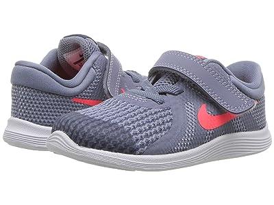 Nike Kids Revolution 4 (Infant/Toddler) (Ashen Slate/Flash Crimson/Diffused Blue) Boys Shoes