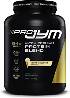 Pro Jym Protein Powder - Egg White, Milk, Whey protein isolates & Micellar Casein | JYM Supplement Science | Tahitian Vanilla Bean Flavor, 4 Lb