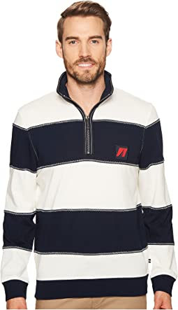 Nautica - Long Sleeve 1/2 Zip Pullover Sweater