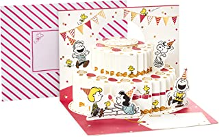 Hallmark Pop Up Peanuts Birthday Card (Peanuts and Snoopy Cake)
