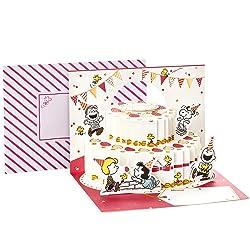 Hallmark Pop Up Peanuts Birthday Card (Peanuts and Snoopy Cake)