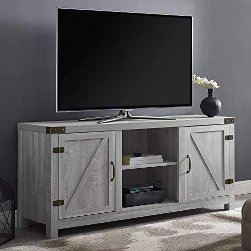 """Walker Edison Furniture Company Farmhouse Barn Wood Universal Stand for TV's up to 64"""" Flat Screen Living Room Storag..."""