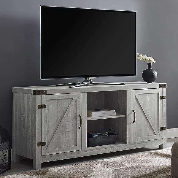 WE Furniture AZ58BDSDST TV Stand 58 Stone Grey