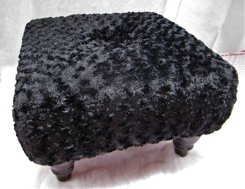 18 inch Handmade Brand Cheap Sale Venue lowest price Square Black Ottoman Footstool Tuffet Hasso Fur