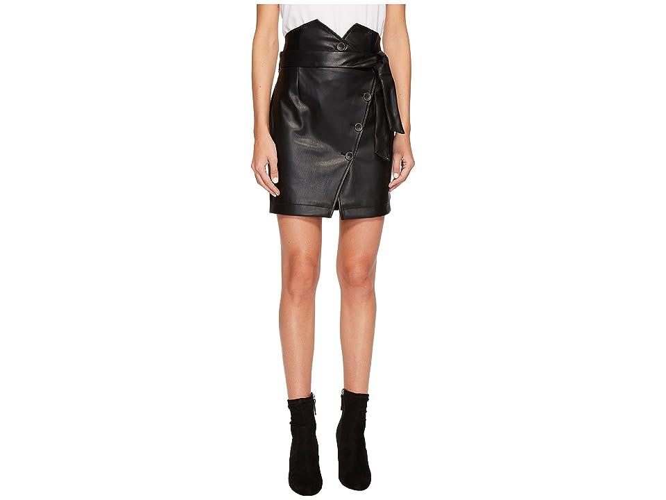 ROMEO & JULIET COUTURE PU Skirt w/ Belt Detail (Black) Women