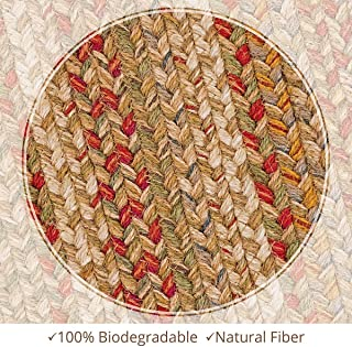 Homespice Oval Jute Braided Rugs, 20-Inch by 30-Inch, Harvest