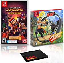 Minecraft Dungeons Hero Edition + Ring Fit Adventure - Two Game Bundle - Nintendo Switch