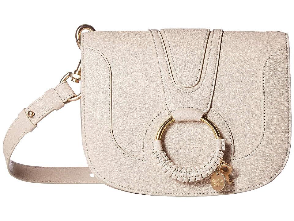 See by Chloe Hana Suede Leather Tote (Cement Beige) Tote Handbags