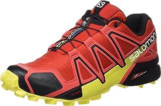 Salomon Men's Speedcross' 4 Trail Running Shoes, Radiant Red/Black/Corona Yellow), 9 UK