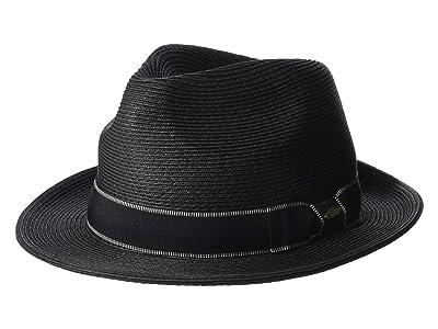 SCALA Paper Braid Fedora (Black) Caps