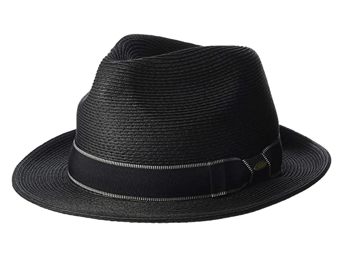 SCALA Paper Braid Fedora (Black) Caps