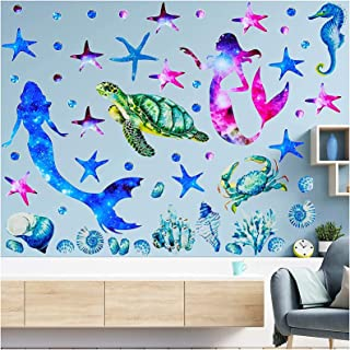 show original title Details about  /3D Blue Fish H041 Wallpaper Wall art Self Adhesive Removable Sticker Wend