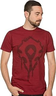 JINX World of Warcraft Horde Crest Stencil Men's Gamer Tee Shirt