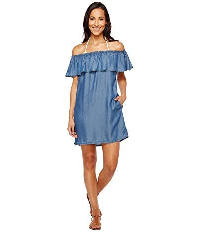 Tommy Bahama Chambray Off the Shoulder Dress Cover-Up