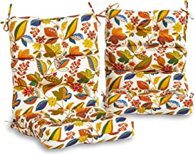 South Pine Porch AM6809S2-SKYMULTI Esprit Floral Outdoor High Back Chair Cushion, Set of 2