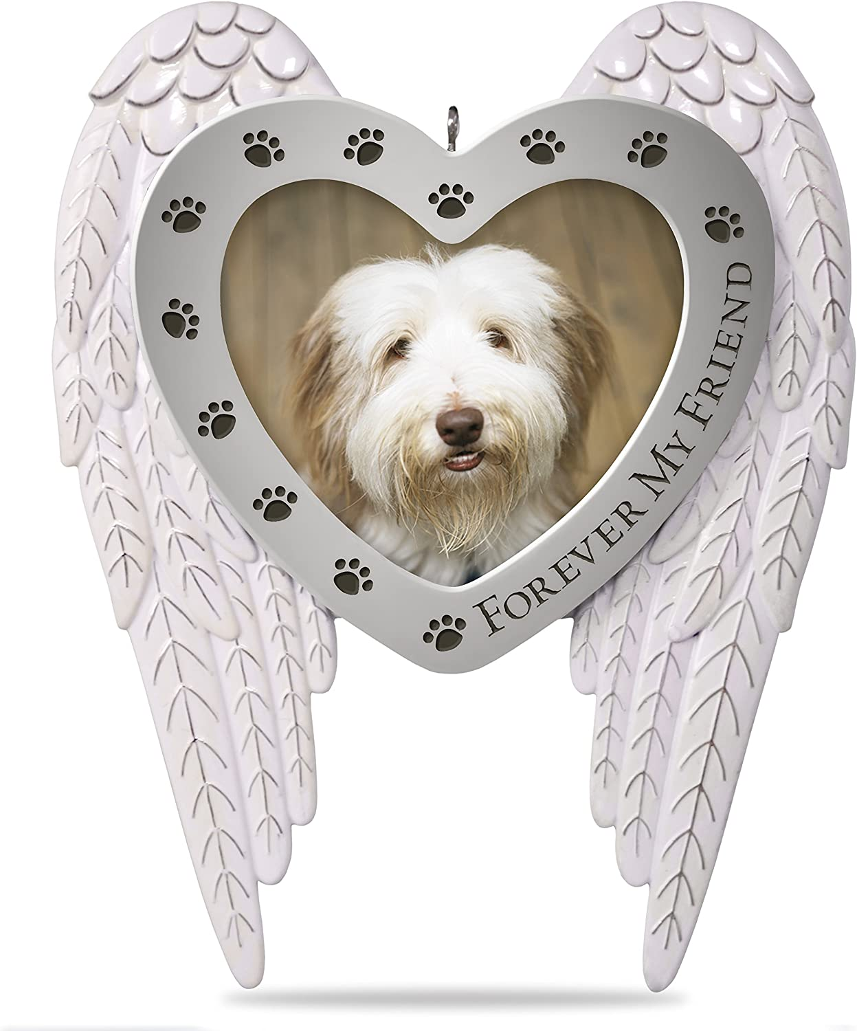 Hallmark Keepsake Christmas Ornament 2018 Year Dated Pet Memorial Gift, Picture Frame, Photo Frame, Bereavement Forever my Friend Metal