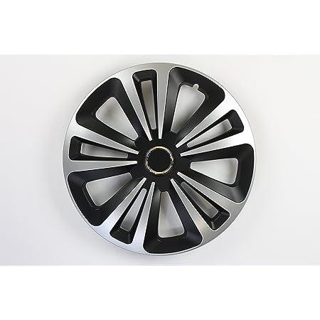 Zentimex Z744991 Radkappen Radzierblenden Universal 15 Zoll Silver Black Auto
