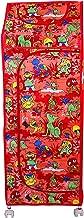 RMA Handicrafts 6 Shelves Printed Wardrobe (RED)