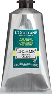 L'Occitane L'homme Cologne Cedrat After-Shave Gel Cream, 2.5 Fl Oz
