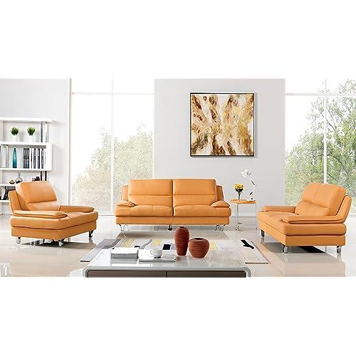 Admirable Genuine Leather Sofa Set Amazon Com Machost Co Dining Chair Design Ideas Machostcouk