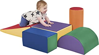ECR4Kids SoftZone Climb and Crawl Activity Play Set, Lightweight Foam Shapes for Climbing, Crawling and Sliding, Safe Foam Playset for Toddlers and Preschoolers, 5-Piece Set, Primary (Renewed)