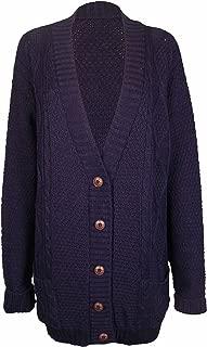 PurpleHanger Women's Knit Sweater Cardigan Top Plus Size Navy Blue 20-22