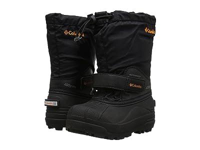 Columbia Kids Powderbug Forty (Toddler/Little Kid/Big Kid) (Black/Orange Blast) Boys Shoes