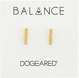 Balance Flat Bar Stud Earrings