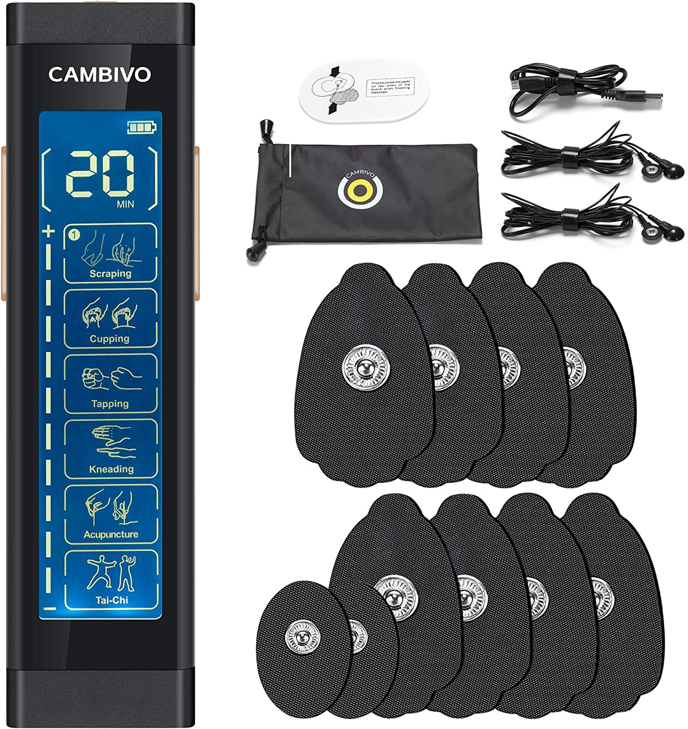 CAMBIVO TENS It is very popular Unit Muscle Stimulator The Relief Cheap sale Machine Pain for