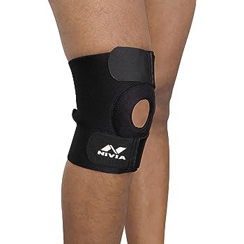 NIVIA Orthopedic Basic Knee Patela Support (Black)