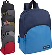 15 Inch Backpacks For Kids with Padded Straps Wholesale Bulk Case Pack Of 24 (Boys 5 Color Assortment)